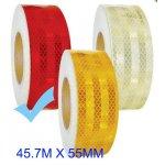Fényvisszaverő szalag E jeles 45.7M - Piros M-HT-3R 55MM