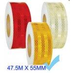 Fényvisszaverő szalag E jeles 45.7M - Sárga M-HT-3Y 55MM