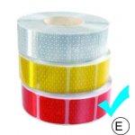 fényvisszaverő szalag kockas piros M-HR-3CRK