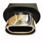 Kipufogódob rozsdamentes acél véggel KP-1523/BK