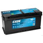 EXIDE AGM EK1050 12V 105Ah 950A akkumulátor J+