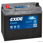 EXIDE EXCELL EB455 12V 45Ah 330A akkumulátor B+ Japán
