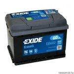 EXIDE EXCELL EB602 12V 60Ah 540A akkumulátor J+