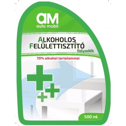 70% alkohol tartalmú pumpás felület tisztító (AM) 500 ml