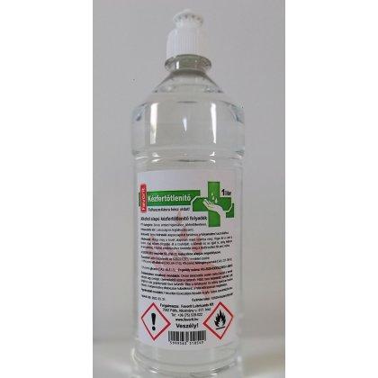 Favorit kézfertőtlenítő folyadék 1 liter, 70 százalék alkohol, biocid, push-pull kupakkal