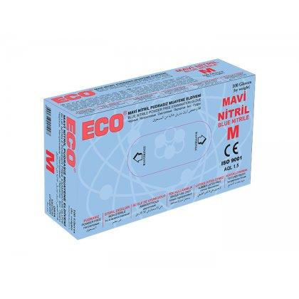 ECO Kék púderes nitril kesztyű - M