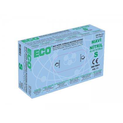 ECO Kék púderes nitril kesztyű - S