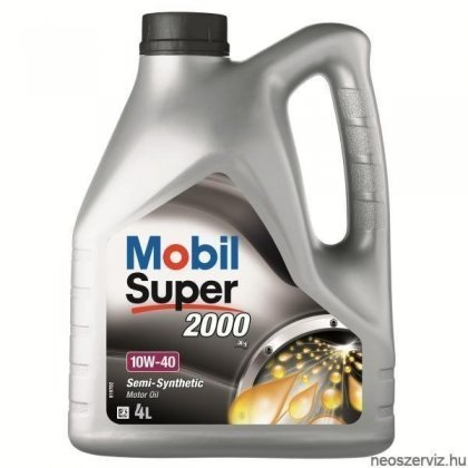 Mobil Super 2000 X1 10W40 4L Motorolaj
